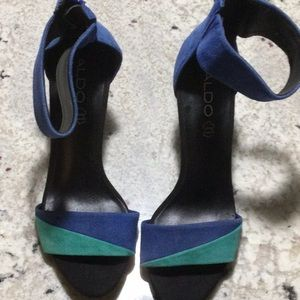Blue and turquoise sexy Heels from Aldo in size 8